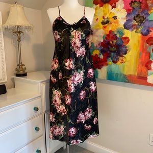 Kim Rogers Nightgown Slip Dress with Roses